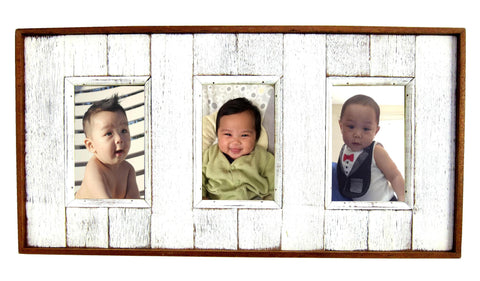 SN 0.2 // White Triple Picture Frame 4x6