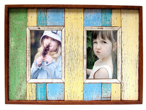 SN 107-A // DOUBLE PICTURE FRAME (pic: 4x6)