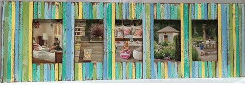 SN 222 // Beach Style 5 Picture Frame Multi Color