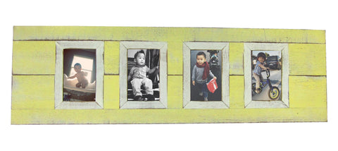 SN 301-4 Yellow  // Four picture frame 4x6 pics