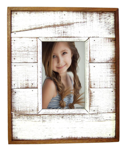 SN 037 White // 4 x 6 White Single Picture Frame