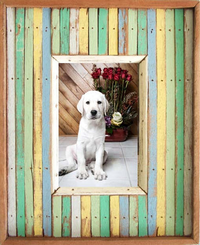 SN059 // Stripes Multi Color Frame (4x6)