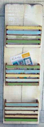 SN161 // Triple Boatwood slats letter holder