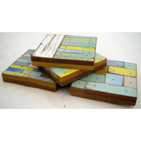 SN253 Square  // Set of 4 Assorted Square Coasters