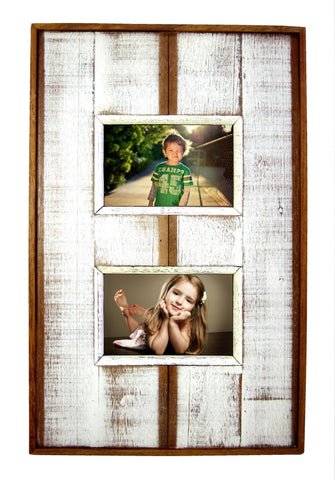 SN 278 // 4 x 6 White Double Frame
