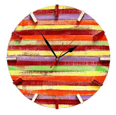 SN 347 // Skittles Recycled Boat Wood Beach House Clock (New Release!!)