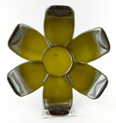 Fused Bottles Candle Plate