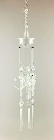"""Icicle Volley"" Found Glass Chime"