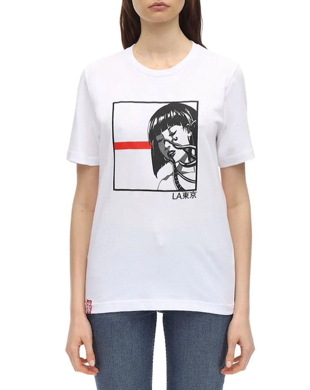 Octopus Girl #2 Tee White