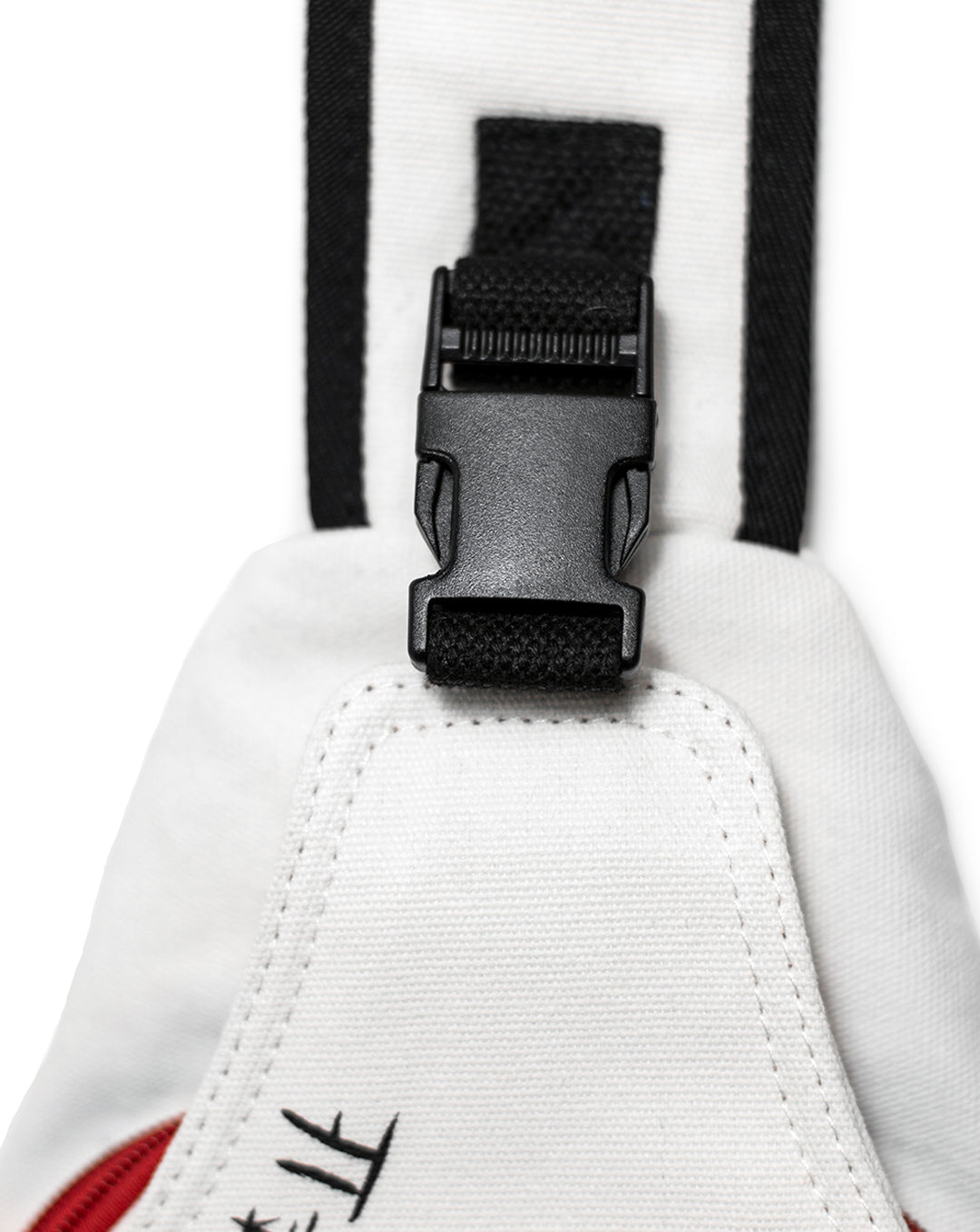 """Keep Out"" Sling Bag White"