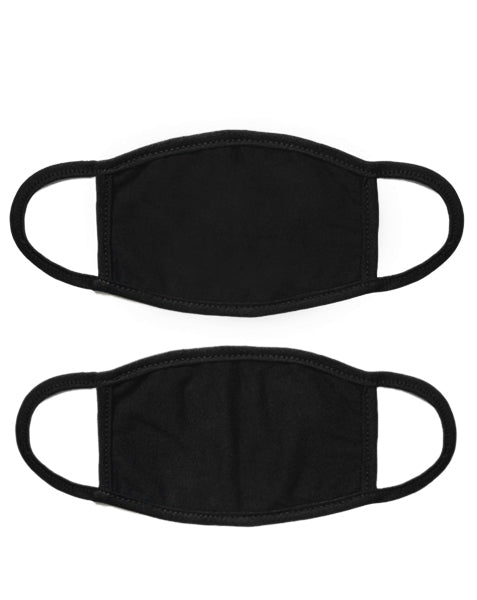 (2 Pack) Black Face Mask
