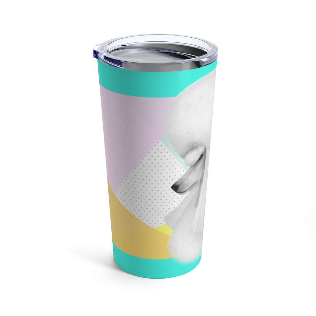 Poodle Head: Teal - Tumbler 20oz