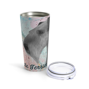 Airedale Terrier: Pink Swirl - Tumbler 20oz
