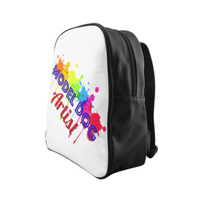 Model Dog Artist - School Backpack