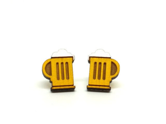 Best Beer Mug Earrings from Unpossible Cuts
