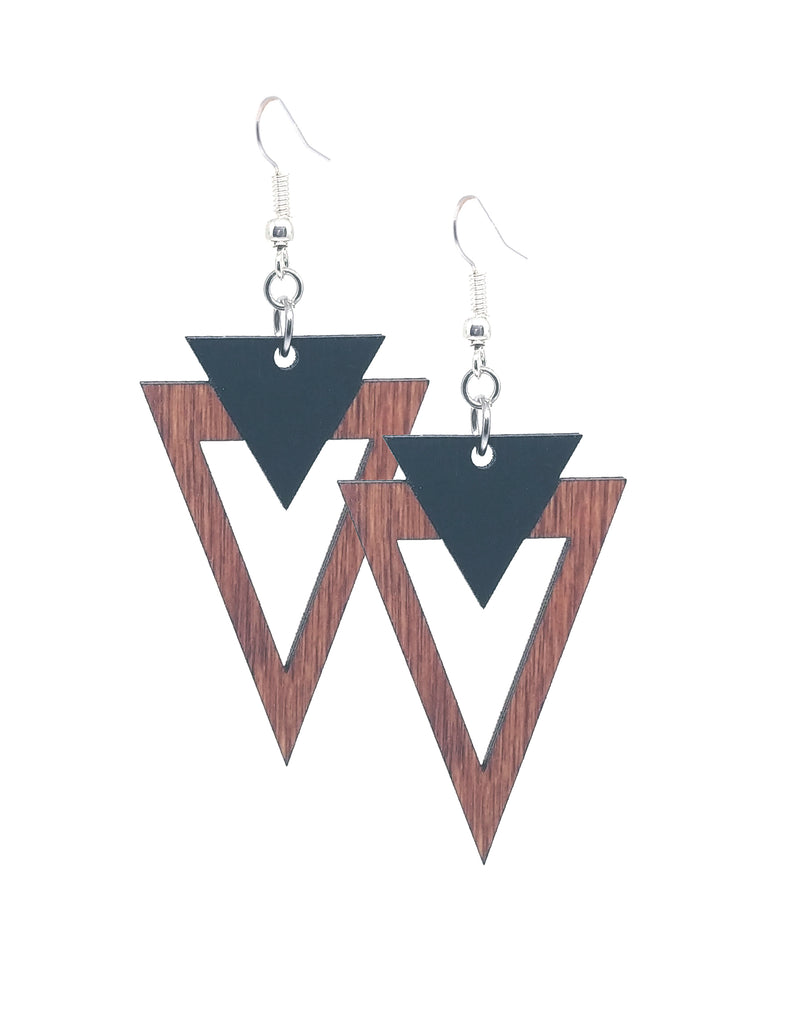 Deco Down Dangle Earrings