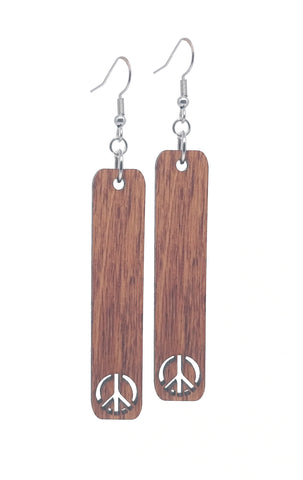 Peace Dangle Earrings