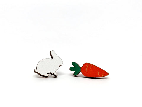 Bunny and Carrot Earrings
