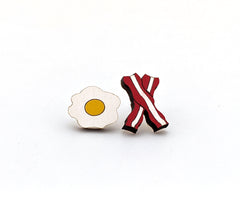 Bacon and Eggs Earrings