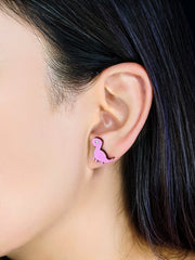 Long Neck the Brachiosaurus Earrings