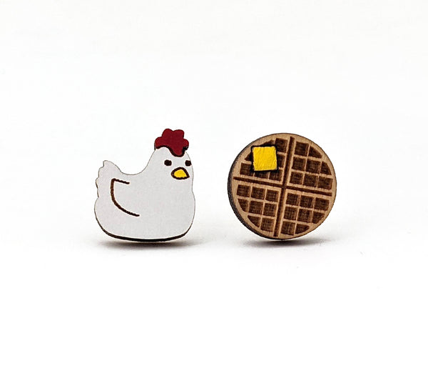 Chicken and Waffle Earrings- Featured in Rachael Ray Every Day Magazine