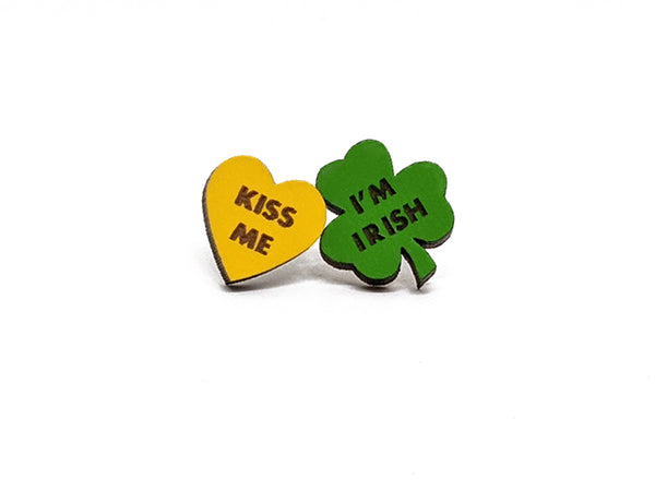 Kiss Me I'm Irish Earrings