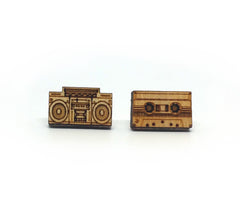Boombox and Tape Earrings
