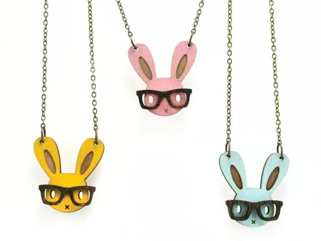 Nerd Bunny Necklace