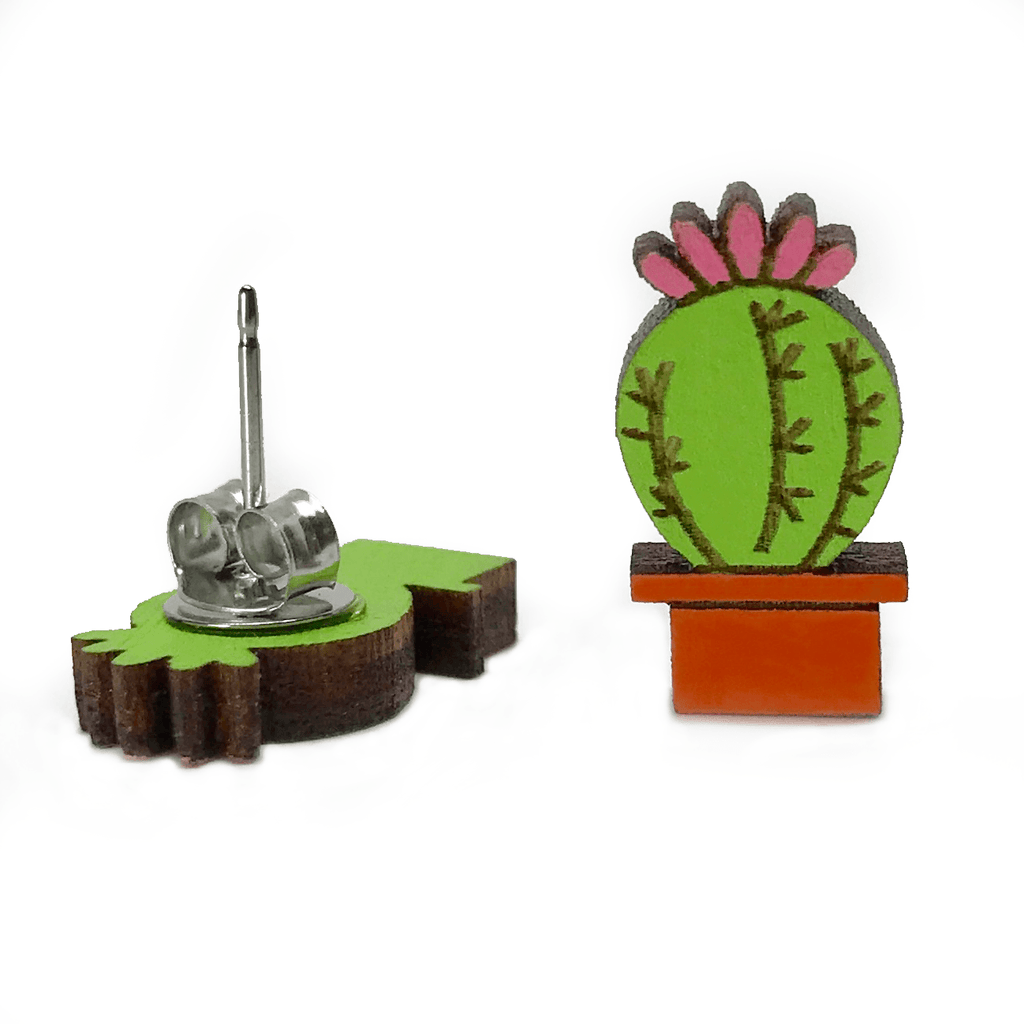 Succulent Cactus Earrings