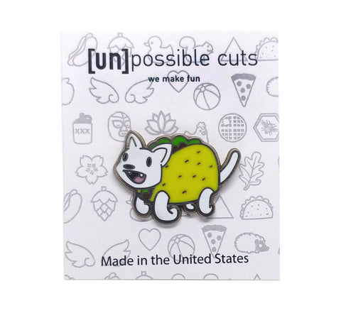 Taco Cat Enamel Pin
