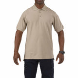 5.11 Short Sleeve Utility Polo in Silver Tan