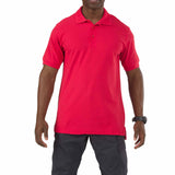 5.11 Short Sleeve Utility Polo in Range Red