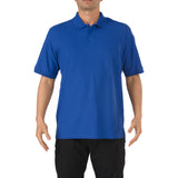 5.11 Short Sleeve Utility Polo in Academy Blue