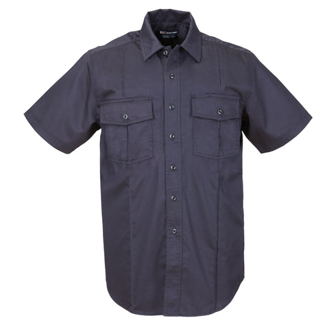 Men's A Class Short Sleeve Station Shirt in Fire Navy