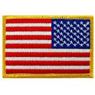 American Flag Reversed Embroidered Patch Gold Border
