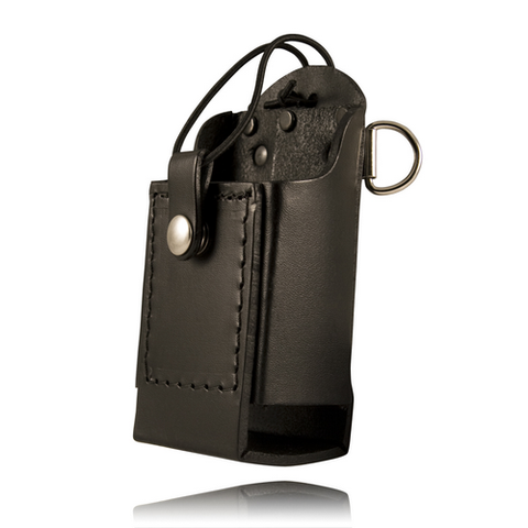 BOSTON LEATHER RADIO HOLDER W/ D RINGS- Style 5481RC-1-E