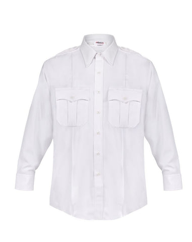 Elbeco DutyMaxx White Men's Long Sleeve Shirt - Style ELB-580D