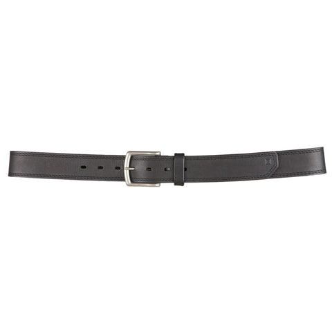 "Arc Leather Belt - 1 1/2"" Wide in Black"