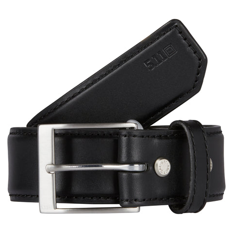 "Leather Casual Belt - 1.5"" in Black"
