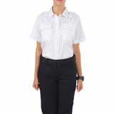 Women's PDU S/S Twill Class A Shirt in White