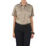 Women's PDU S/S Twill Class A Shirt in Silver Tan