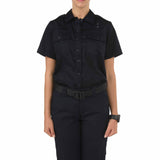 Women's PDU S/S Twill Class A Shirt in Midnight Navy