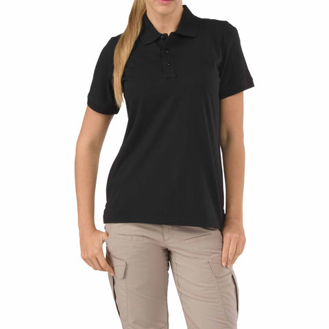 Women's S/S Tactical Polo - Jersey in Black