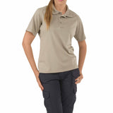 Performance Polo - Women's Short Sleeve, Polyester in Silver Tan