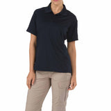 Performance Polo - Women's Short Sleeve, Polyester in Dark Navy