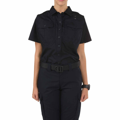 Women's B Class Taclite PDU Short Sleeve Shirt in Midnight Navy