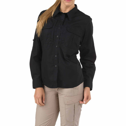 Womens Taclite Pro Long Sleeve Shirt in Black