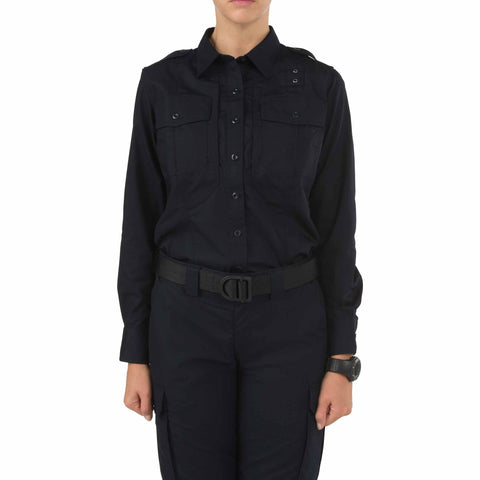 Women's B Class Taclite PDU Long Sleeve Shirt in Midnight Navy