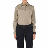 Women's L/S PDU Rapid Shirt in Silver Tan