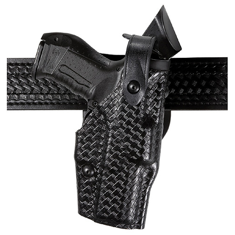Safariland Model 6360 Als/Sls Mid-Ride, Level Iii Retention Duty Holster STX Tactical Black- Style  6360-832-132